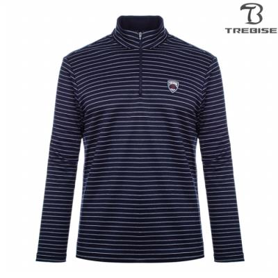 [트레비스] 남성 스트라이프 짚업 티셔츠 TBGFTL53M_NV