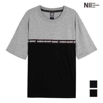 [NII] 남성 배색 라운드 티셔츠_2NNXARUF7136