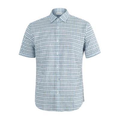 [프랑코페라로] 남성 써커소재 체크 셔츠 (ASZ820524)