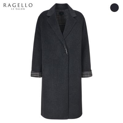 (라젤로) 체크배색 모직 코트(RG9WCT901)