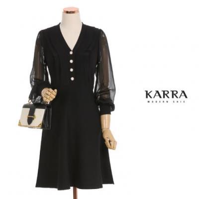 KARRA 시스루소매니트원피스_KB0FOP367C