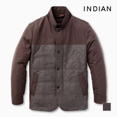 [INDIAN] 헤링본 투톤 배색 자켓변형 퀼팅사파리_MITKATF9121