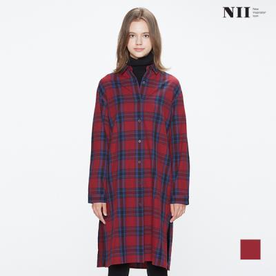 [NII] 여성 맥스롱 플란넬 체크 셔츠_NNYNLUW8371