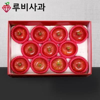 [루비사과] 프리미엄 명품사과 선물세트 3kg (10~12과) 실중량