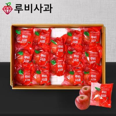 [루비사과] 프리미엄 정품 세척사과 선물세트 3kg (12~14과) 실중량