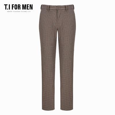 (T.I FOR MEN) 시가렛핏 지도리 패턴 슬랙스(M186MPT206M)