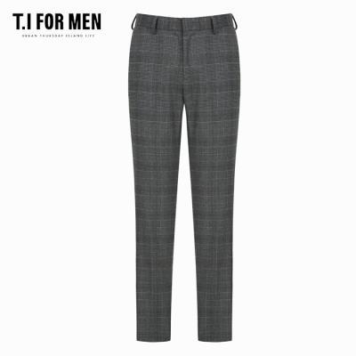 (T.I FOR MEN) 시가렛핏 체크 슬랙스(M186MPT205M)