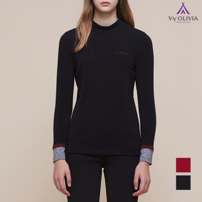 [비비올리비아] 소매배색 티셔츠_VVBALTW9111