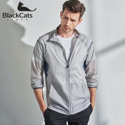 (Black CATS) 그레이 에이홀 라이트 바람막이 자켓(BC182MJG)