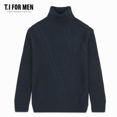 (T.I FOR MEN) 모크넥 반 터틀 니트(M188MSW105M)