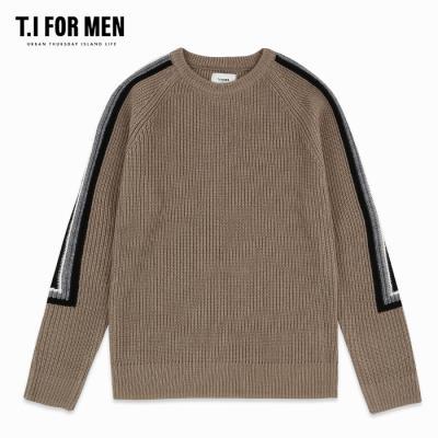 (T.I FOR MEN) 소매 패턴 컬러포인트 스웨터(M188MSW112M)