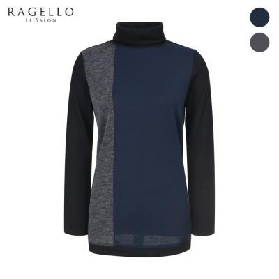 (라젤로) 컬러 배색 하이넥 니트(RG8WTS103)