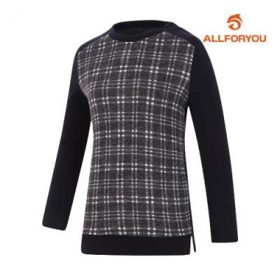 [올포유]여성 라운드 긴팔 티셔츠 AWTRG8151-915_G