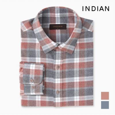 [INDIAN] 컬러 데코 중체크 셔츠_MITNLVF8401
