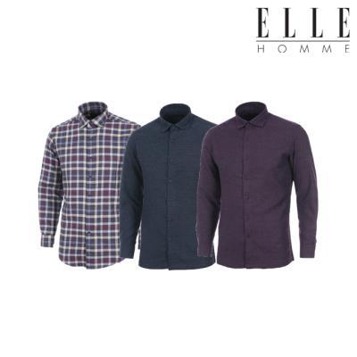 ▣엘르옴므▣ 겨울OPEN 슬림핏 레귤러핏 기모 셔츠 6종 택 1