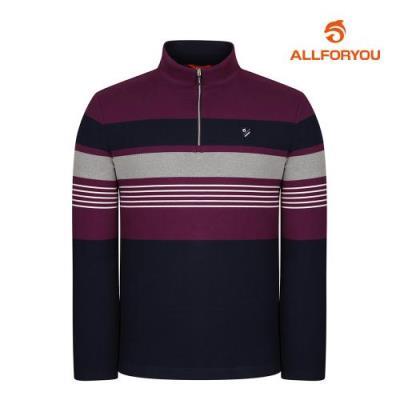 [올포유]남성 스트라이프 집업 티셔츠 AMTHI4103-604_G