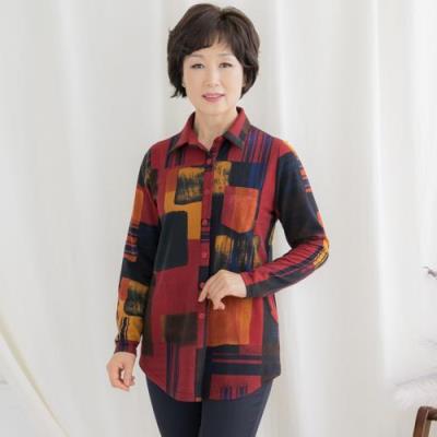 엄마옷 마담4060 오픈블라우스셔츠-QBL010020-