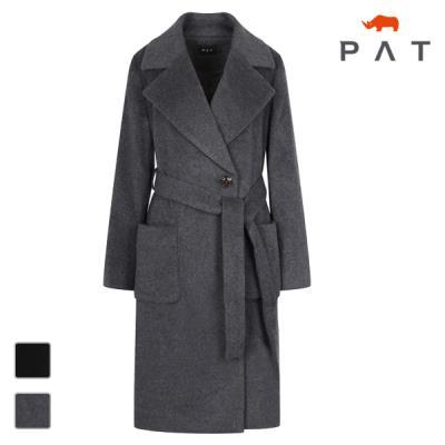 PAT 여성 캐시미어 혼방 와이드카라 코트-QE81181