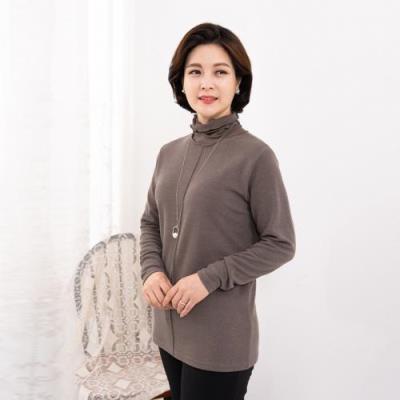 엄마옷 마담4060 반짝폴라티셔츠-QTE010051-
