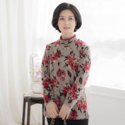 엄마옷 마담4060 포피기모티셔츠-QTE010056-