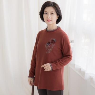 엄마옷 마담4060 로즈프릴티셔츠-QTE010058-