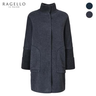 (라젤로) 니트 배색 하이넥 알파카 코트(RG9WCT110)