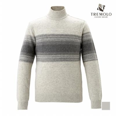 [TREMOLO] 가슴단가라 포인트 패턴 하프넥 니트_TRNBHUW9421