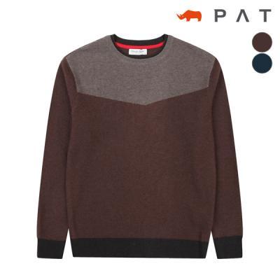 절개 변형 라운드 스웨터_QC73301