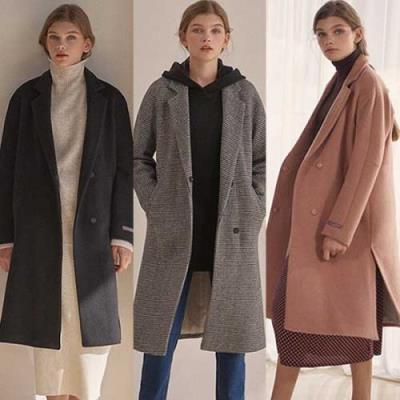 홈쇼핑 여성 겨울 울캐시미어 코트 3종택일