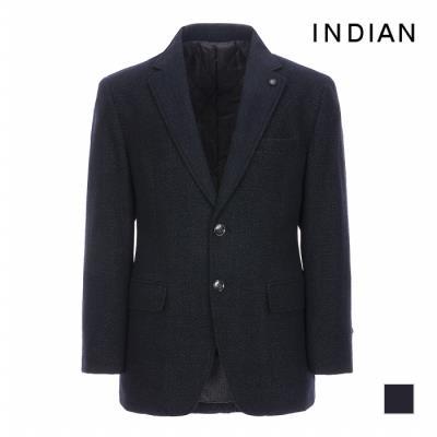 [INDIAN] 울 블렌드 패턴 패딩 자켓_MITFUSCA101