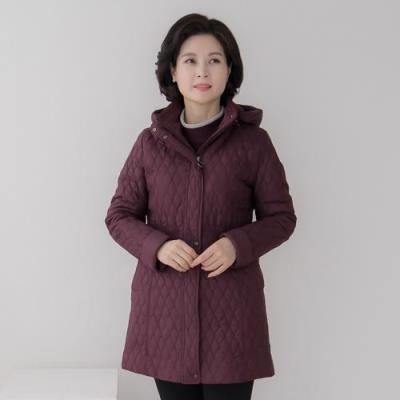 엄마옷 마담4060 라인자수누빔자켓-QJK011011-