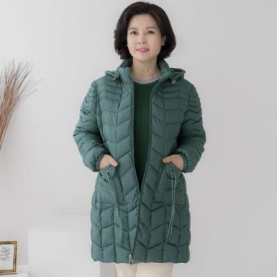 엄마옷 마담4060 포켓하프패딩점퍼-QJP011028-
