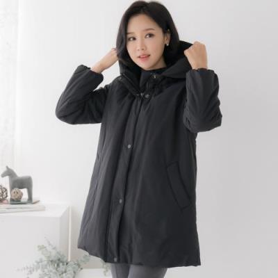 엄마옷 마담4060 후드자수포인점퍼-QJP011029-