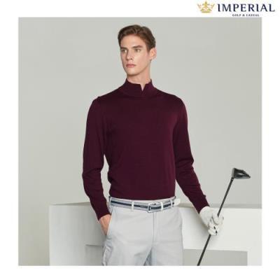 [임페리얼] 남성 하프넥 웜 스웨터 와인 (IPZ240479)