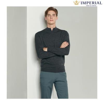 [임페리얼] 남성 하프넥 웜 스웨터 다크그레이 (IPZ240337)