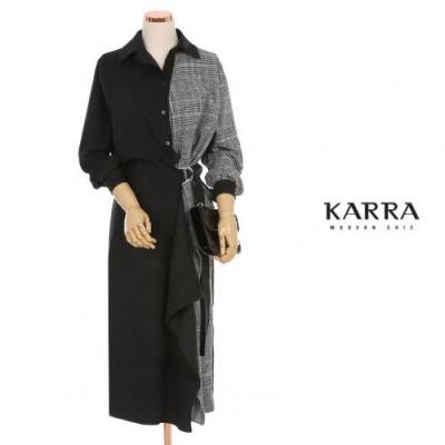 KARRA 체크배색버클링원피스_KB0WOP579A
