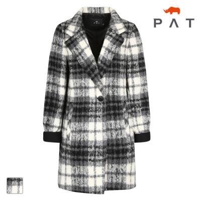 PAT 여성 모노 체크코트-1B81101