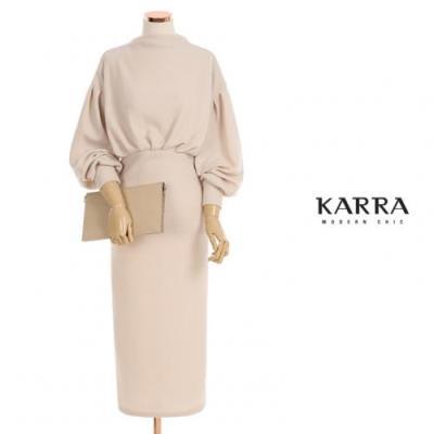 KARRA 앞핀턱주름원피스_KB0WOP601A