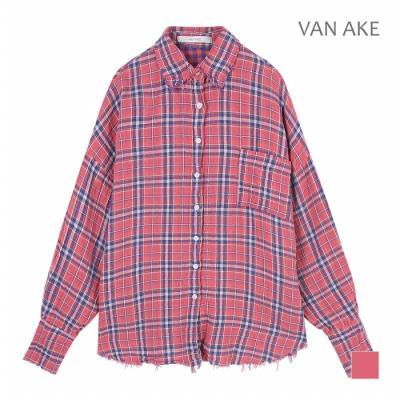 [반에이크] 헤짐 체크 셔츠_VA84BLQ317Z