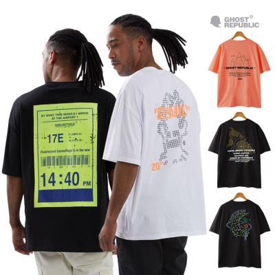고스트리퍼블릭 신상 남녀공용 오버핏 아트워크 반팔 티셔츠