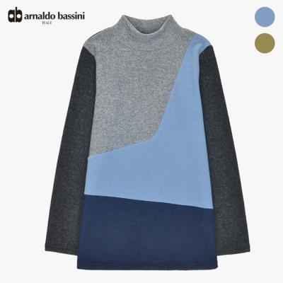 [본사직영] (아날도바시니) 3단컬러블록 반목 티셔츠(ZAT11TS45M)