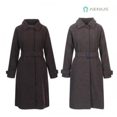 AENUS 여성 잔체크 디자인 울코트 AW19FJT002 2종택일