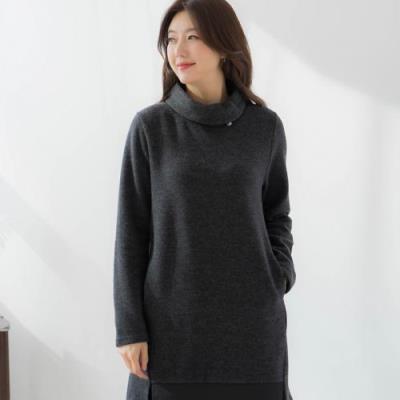 엄마옷 마담4060 스트링목폴라티셔츠-QTE101020-