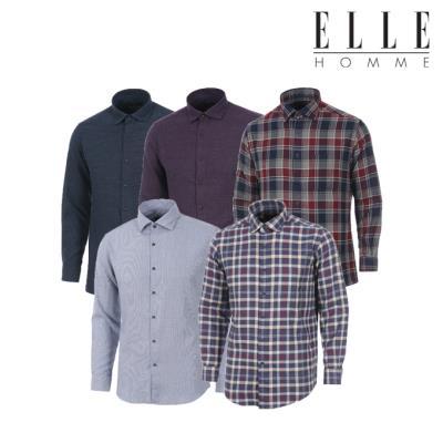 ▣엘르옴므▣ 가격인하 겨울OPEN 슬림핏 레귤러핏 기모 셔츠 6종 택 1