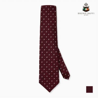 [BRUNO BAFFI] 와인바탕 패턴무늬 넥타이_MACSNUS2316