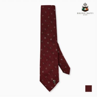 [BRUNO BAFFI] 와인바탕 잔무늬 넥타이_MARSNUSC431