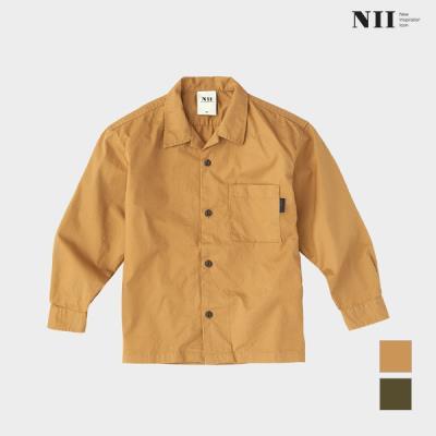 [NII] 아동 오픈카라형 워싱 코튼 셔츠_NNKNLVS1511