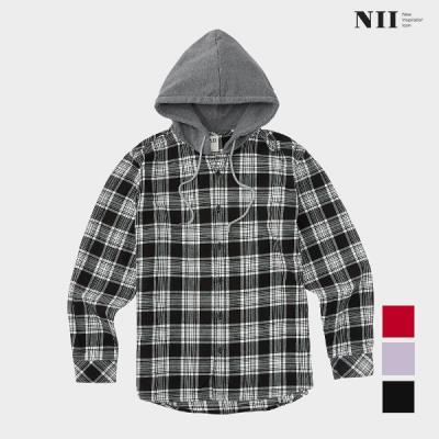 [NII] 공용 후드 체크 셔츠_NNUNLVS1551