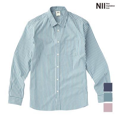 [NII] 남성 포플린 스트라이프 셔츠_NNXNLVS1201