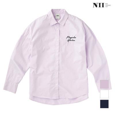 [NII] 여성 자수 포인트 베이직 셔츠_NNYNLVS1531